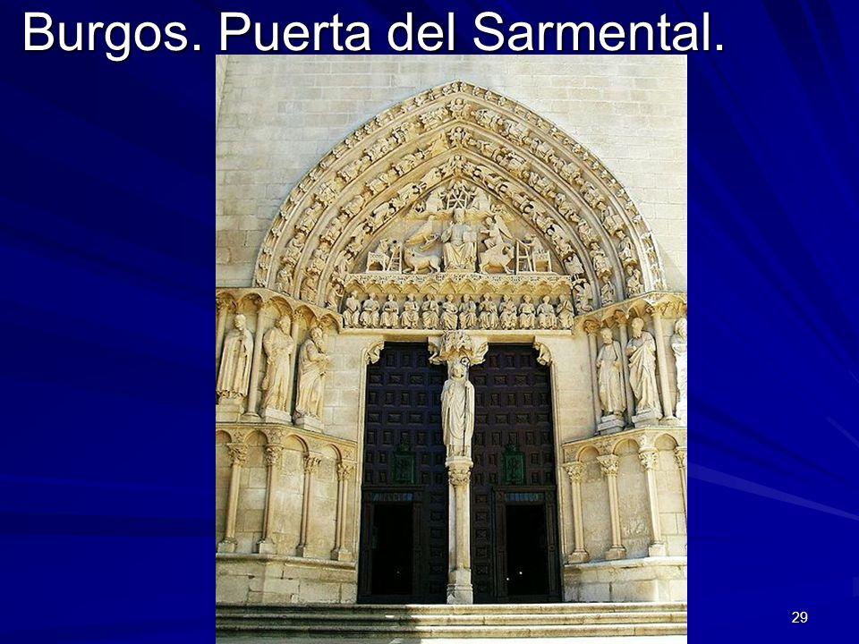 Escultura gótica 29 Burgos. Puerta del Sarmental.