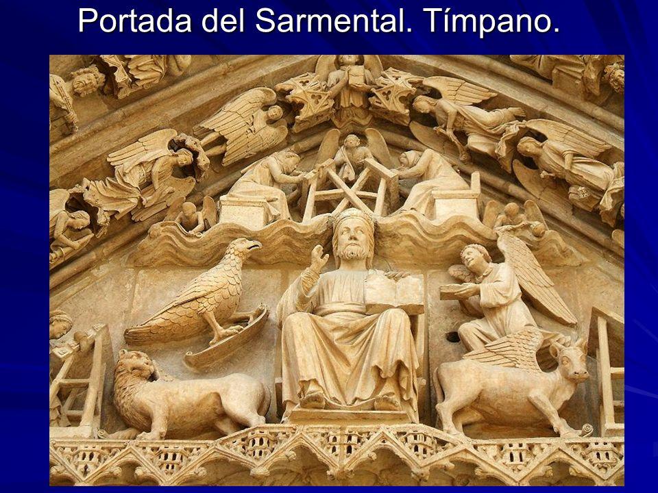 Escultura gótica 30 Portada del Sarmental. Tímpano.