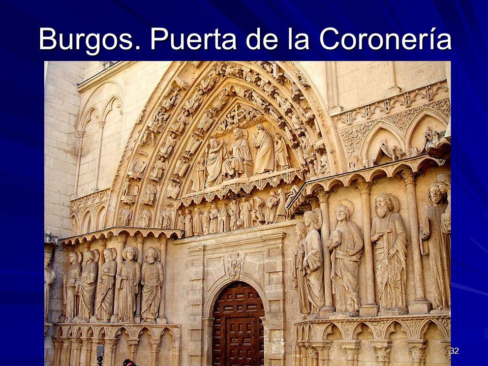 Escultura gótica 32 Burgos. Puerta de la Coronería