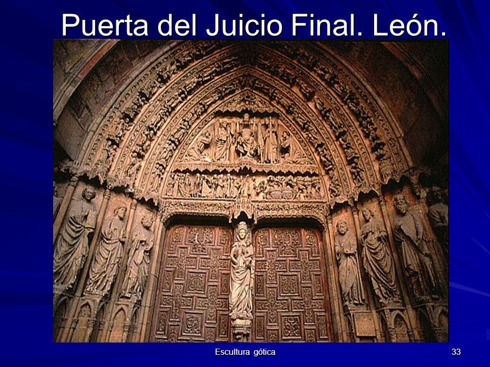 Escultura gótica 33 Puerta del Juicio Final. León.