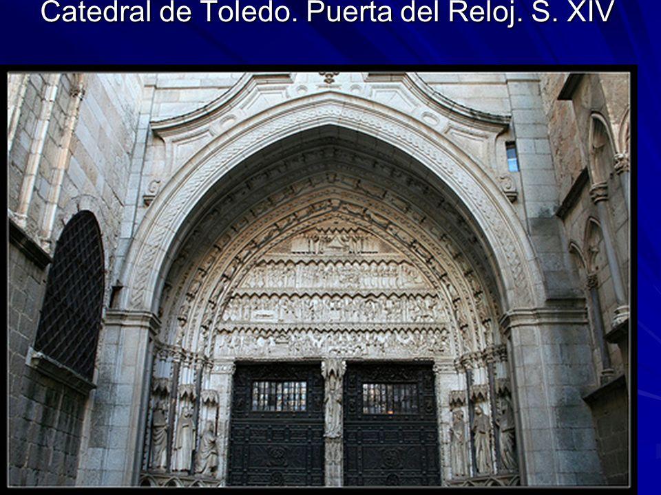 Escultura gótica 35 Catedral de Toledo. Puerta del Reloj. S. XIV