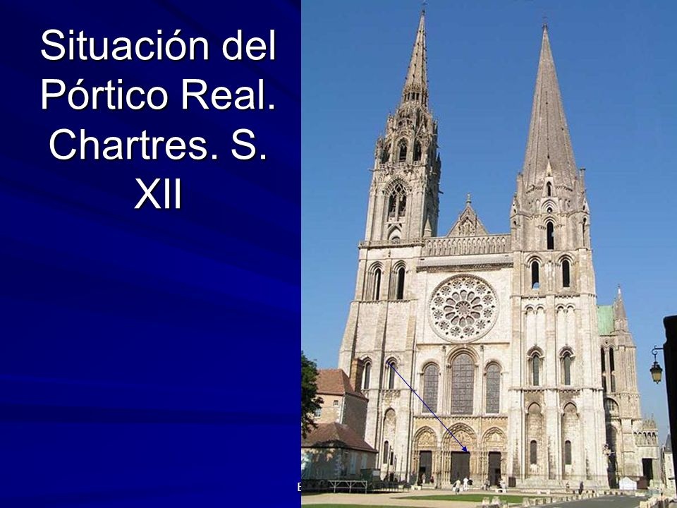 Escultura gótica 4 Situación del Pórtico Real. Chartres. S. XII