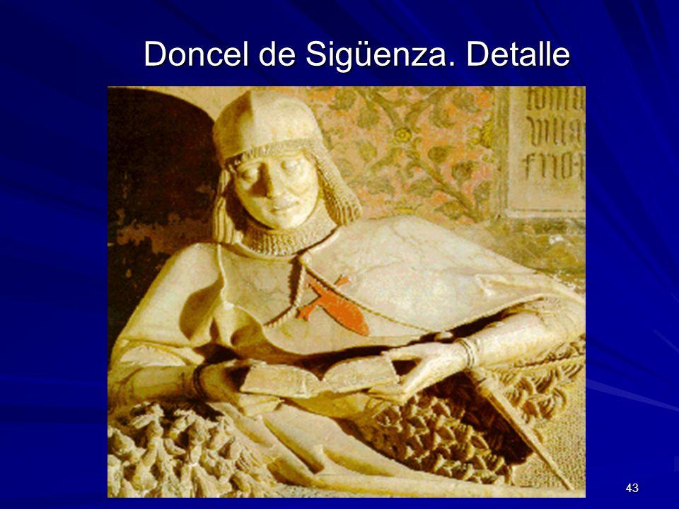Escultura gótica 43 Doncel de Sigüenza. Detalle