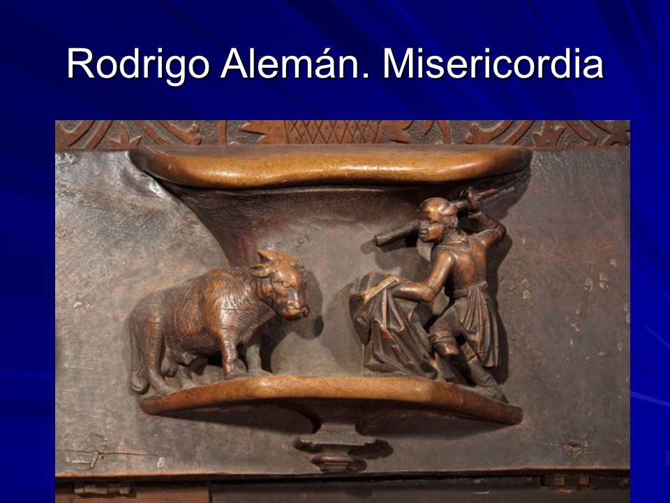 Escultura gótica 47 Rodrigo Alemán. Misericordia