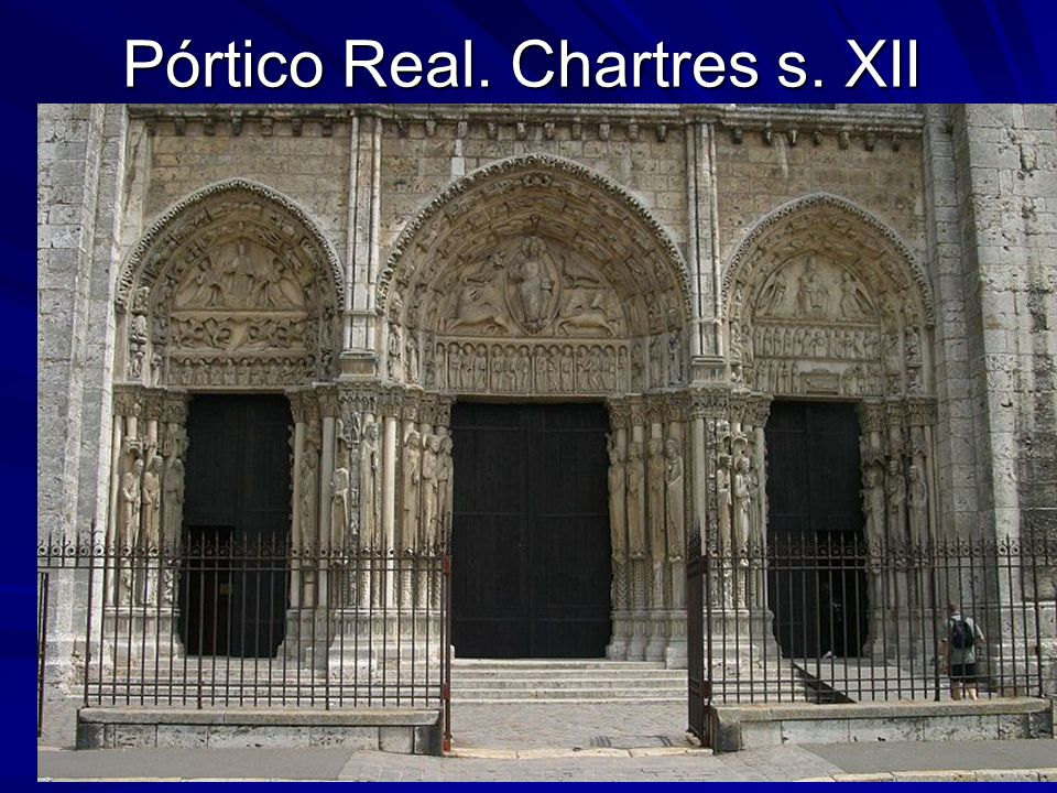 Escultura gótica 5 Pórtico Real. Chartres s. XII