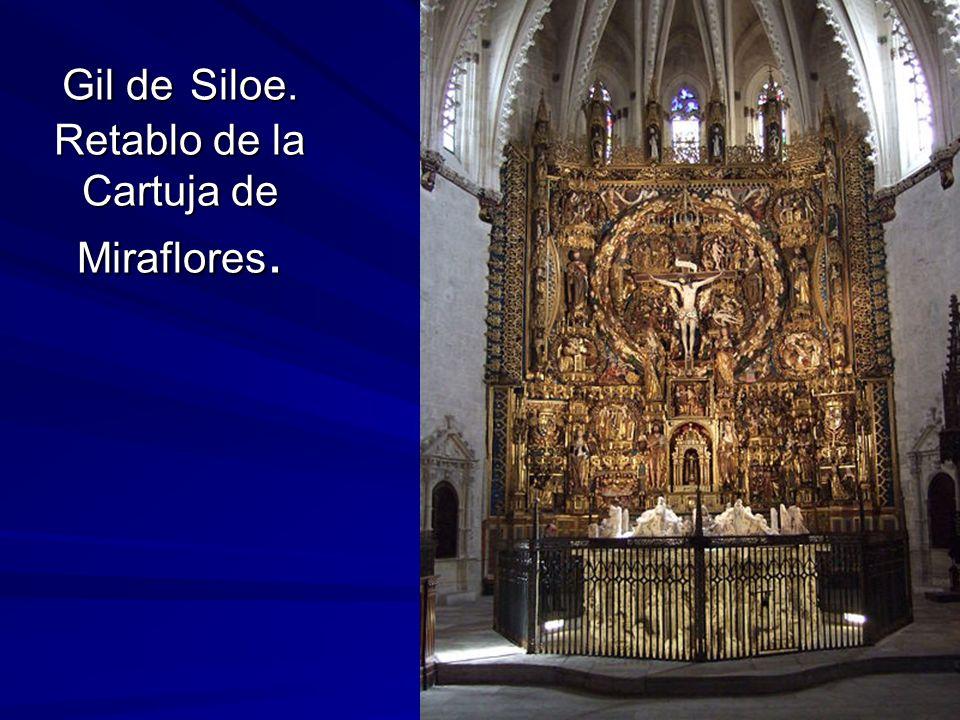 Escultura gótica 51 Gil de Siloe. Retablo de la Cartuja de Miraflores.