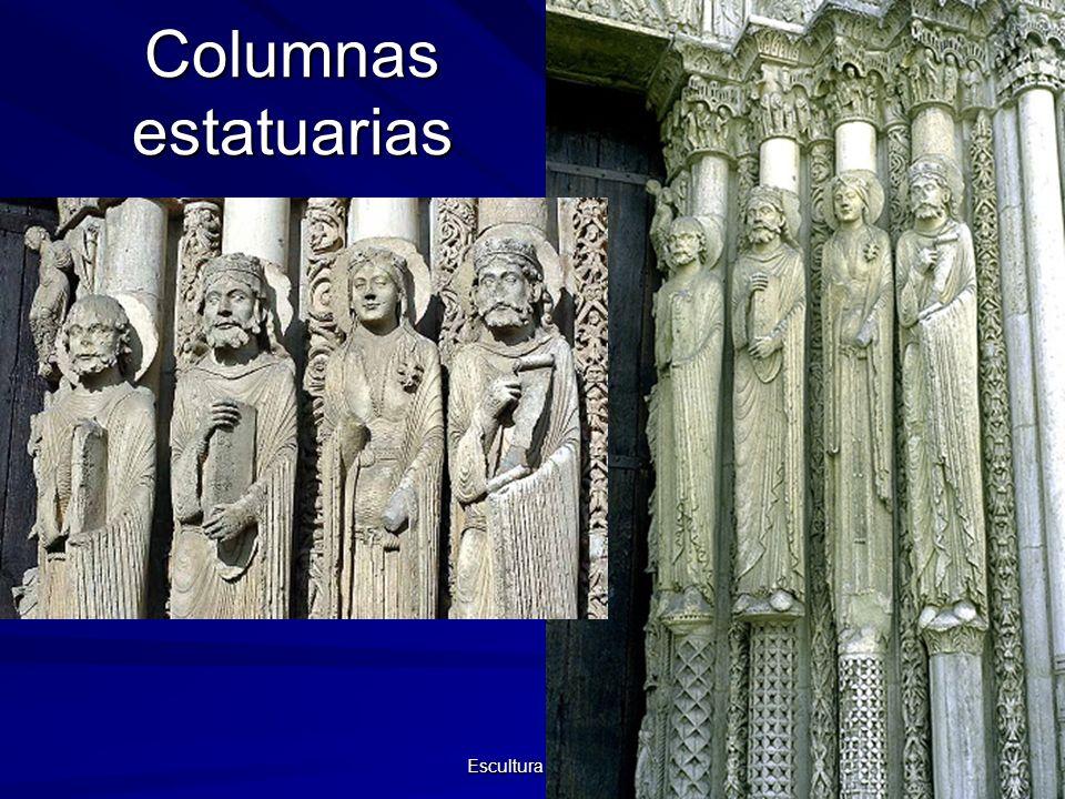 Escultura gótica 8 Columnas estatuarias