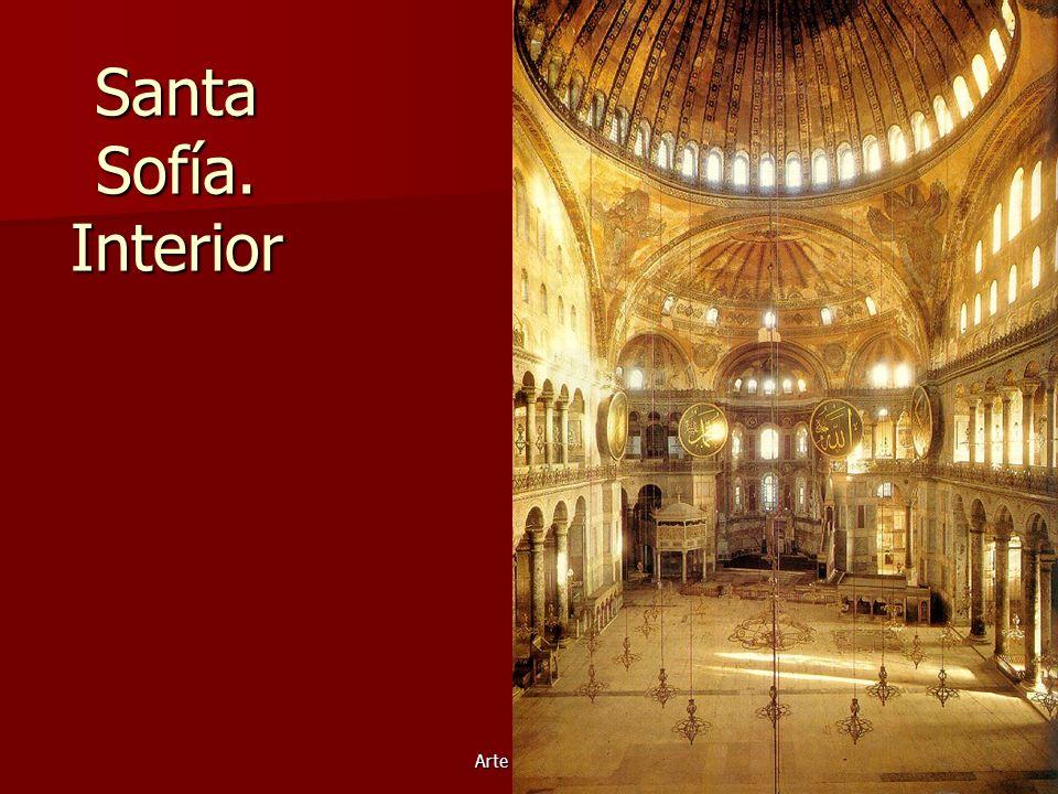 Arte bizantino14 Santa Sofía. Interior