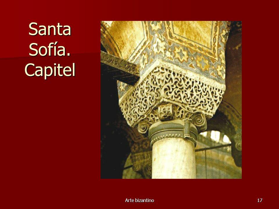 Arte bizantino17 Santa Sofía. Capitel