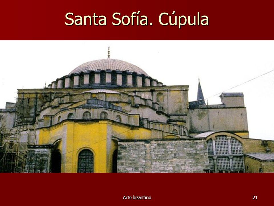 Arte bizantino21 Santa Sofía. Cúpula