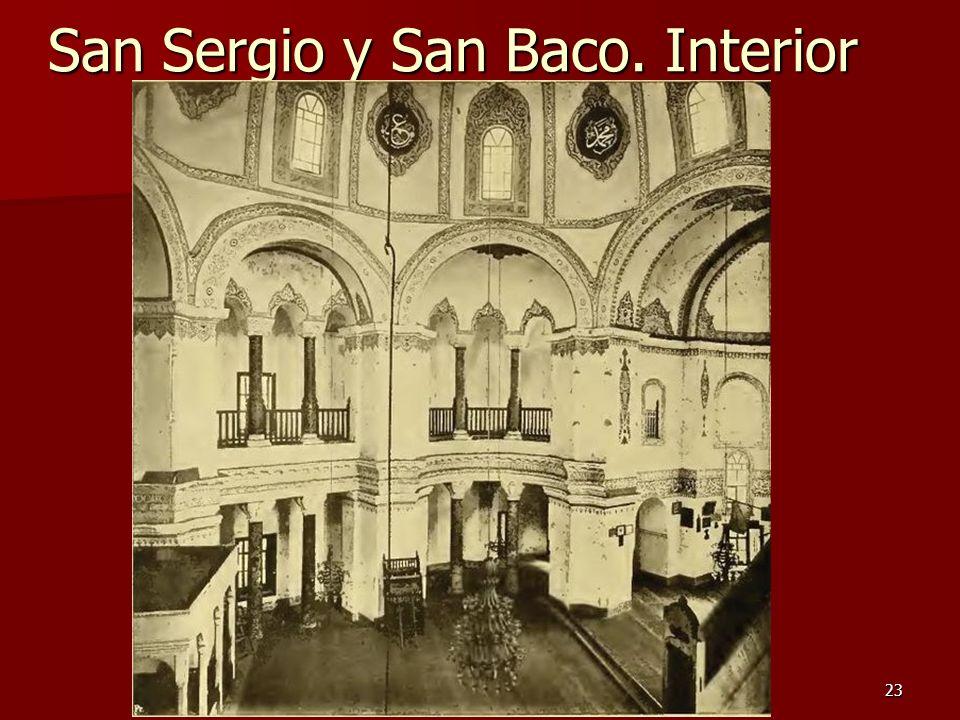 Arte bizantino23 San Sergio y San Baco. Interior