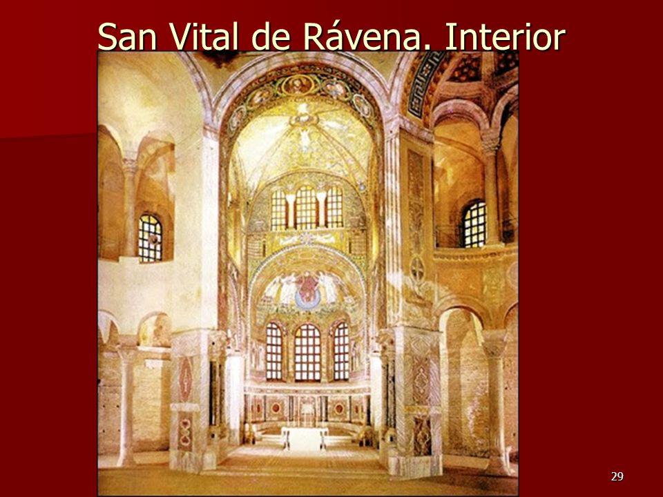 Arte bizantino29 San Vital de Rávena. Interior