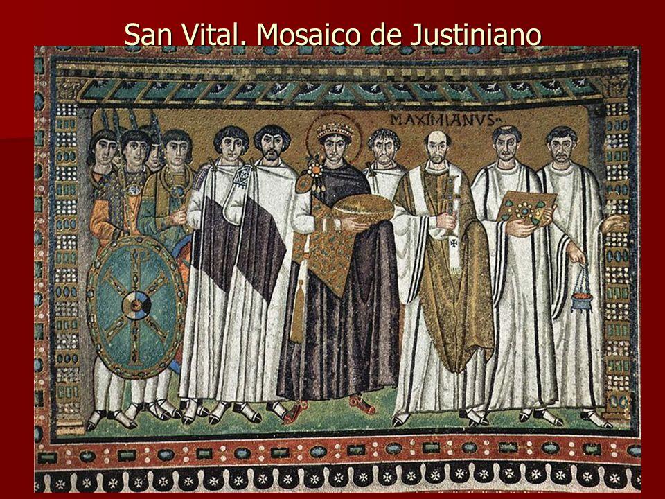 Arte bizantino32 San Vital. Mosaico de Justiniano