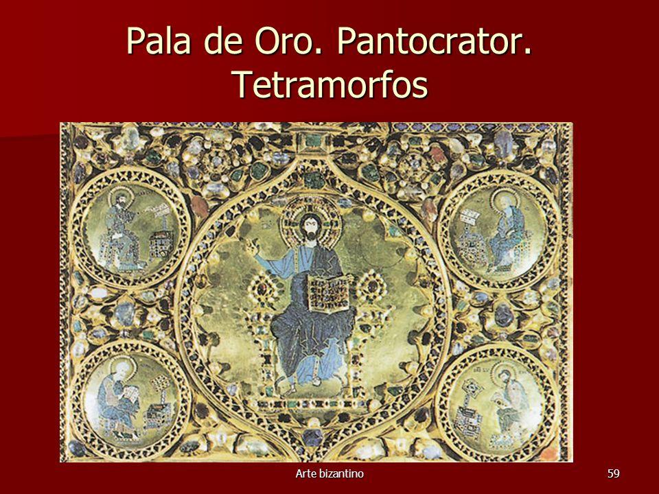 Arte bizantino59 Pala de Oro. Pantocrator. Tetramorfos