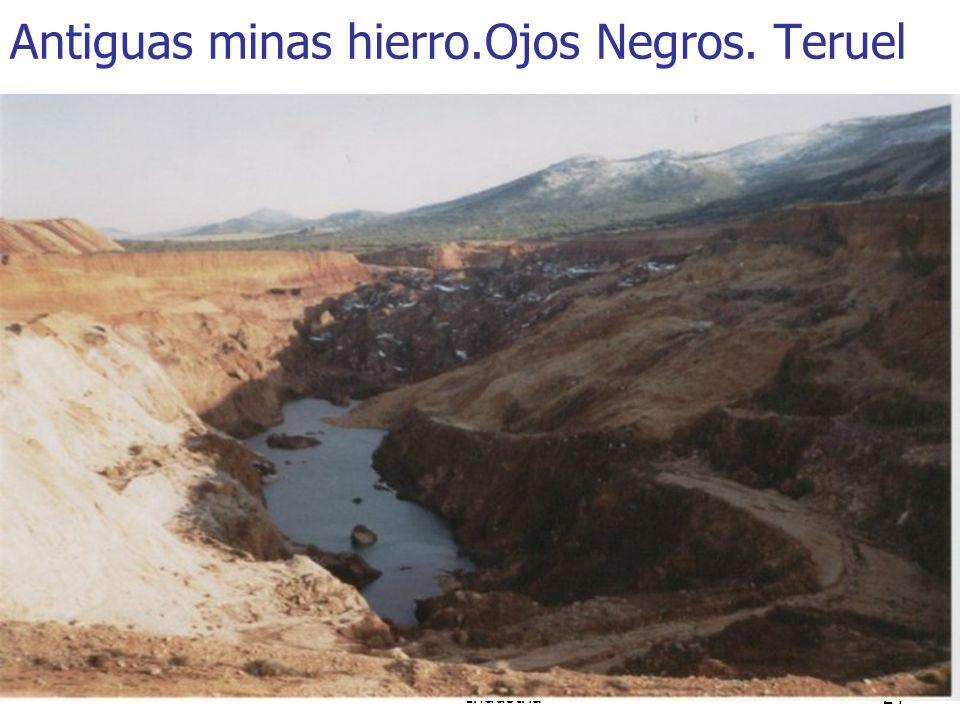 Minería, Fuentes de energía e Industria24 Antiguas minas hierro.Ojos Negros. Teruel