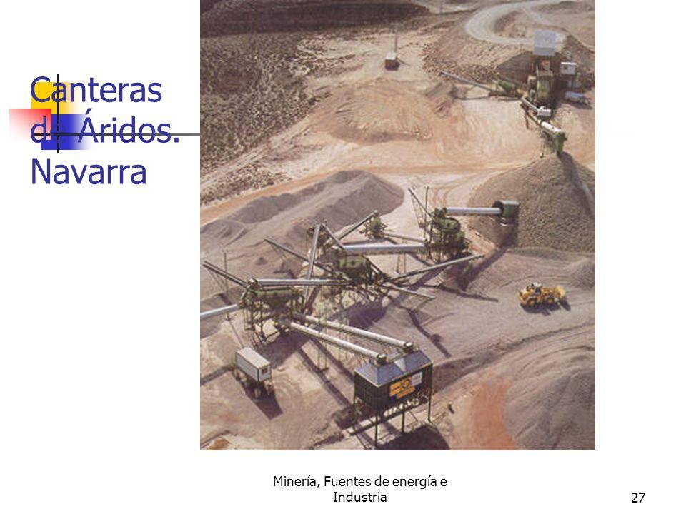 Minería, Fuentes de energía e Industria27 Canteras de Áridos. Navarra