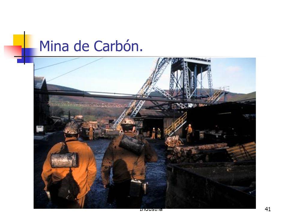 Minería, Fuentes de energía e Industria41 Mina de Carbón.