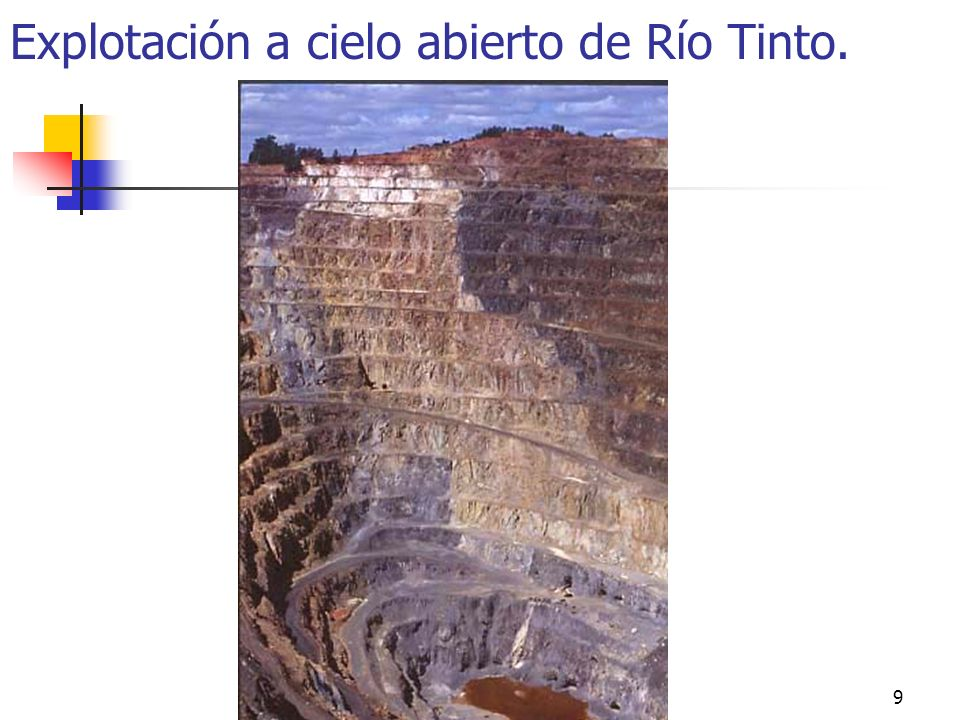 Minería, Fuentes de energía e Industria9 Explotación a cielo abierto de Río Tinto.