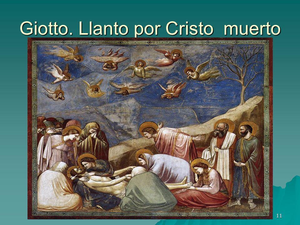 Pintura gótica 11 Giotto. Llanto por Cristo muerto