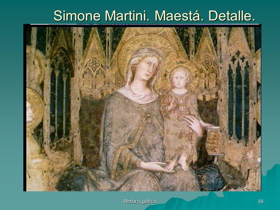 Pintura gótica 18 Simone Martini. Maestá. Detalle.