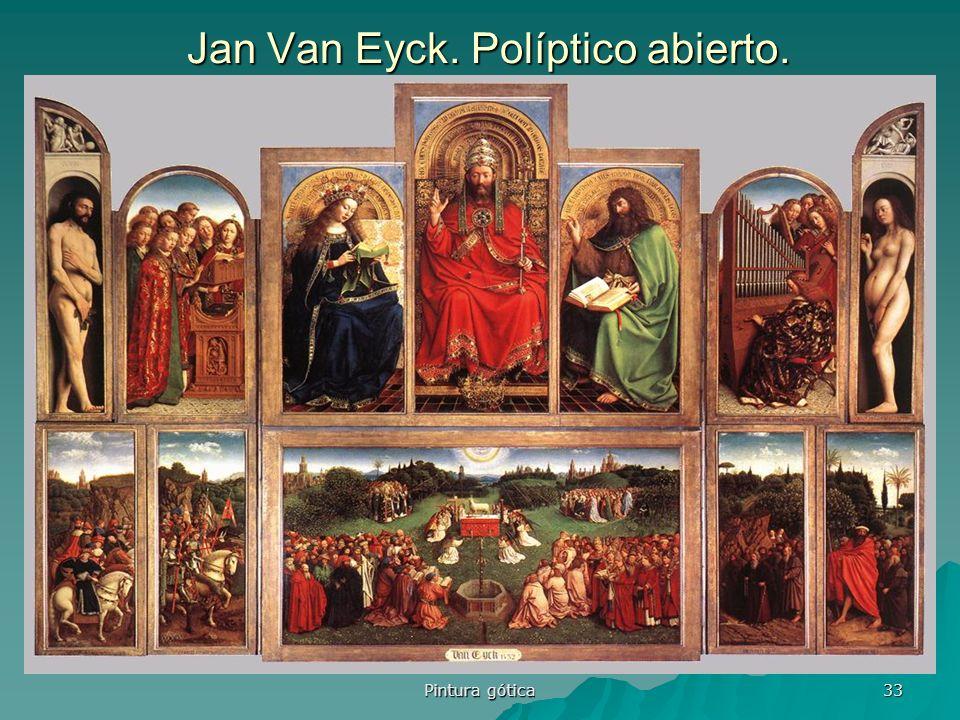 Pintura gótica 33 Jan Van Eyck. Políptico abierto.