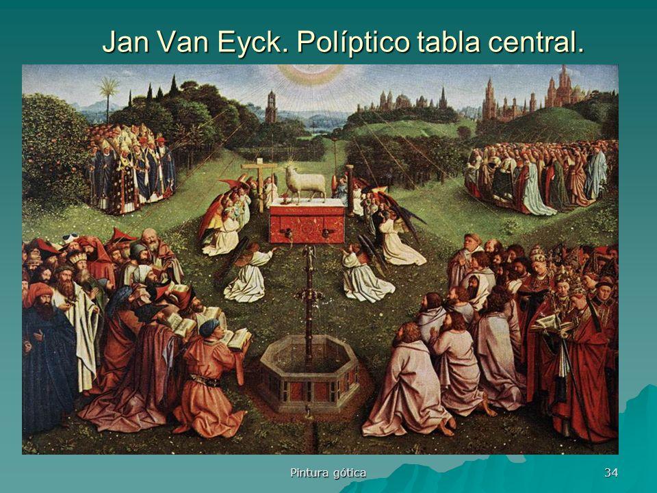 Pintura gótica 34 Jan Van Eyck. Políptico tabla central.