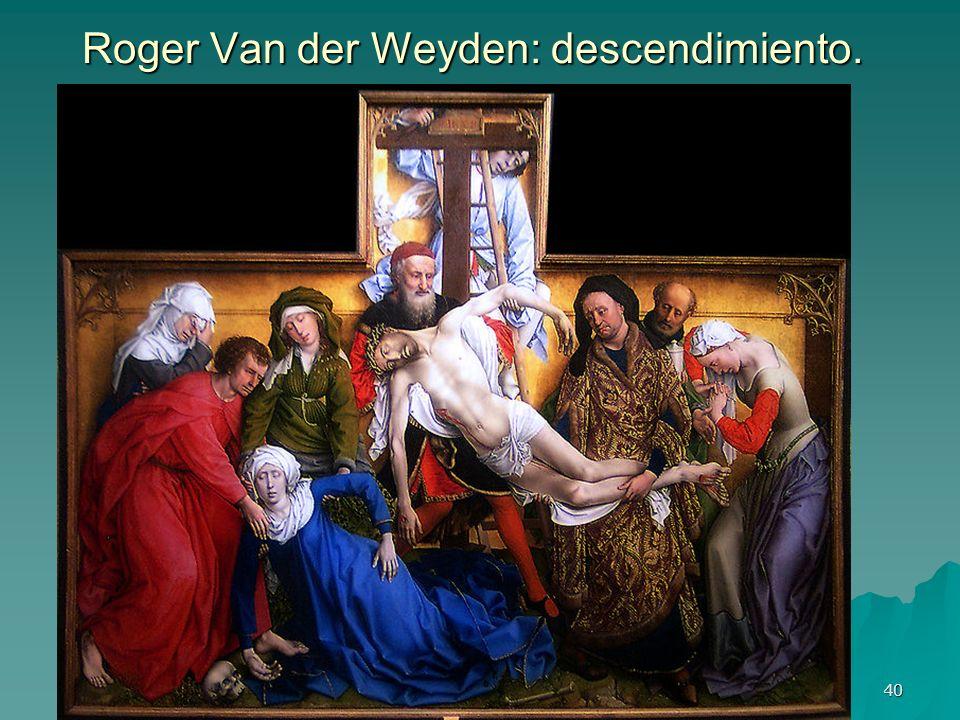 Pintura gótica 40 Roger Van der Weyden: descendimiento.