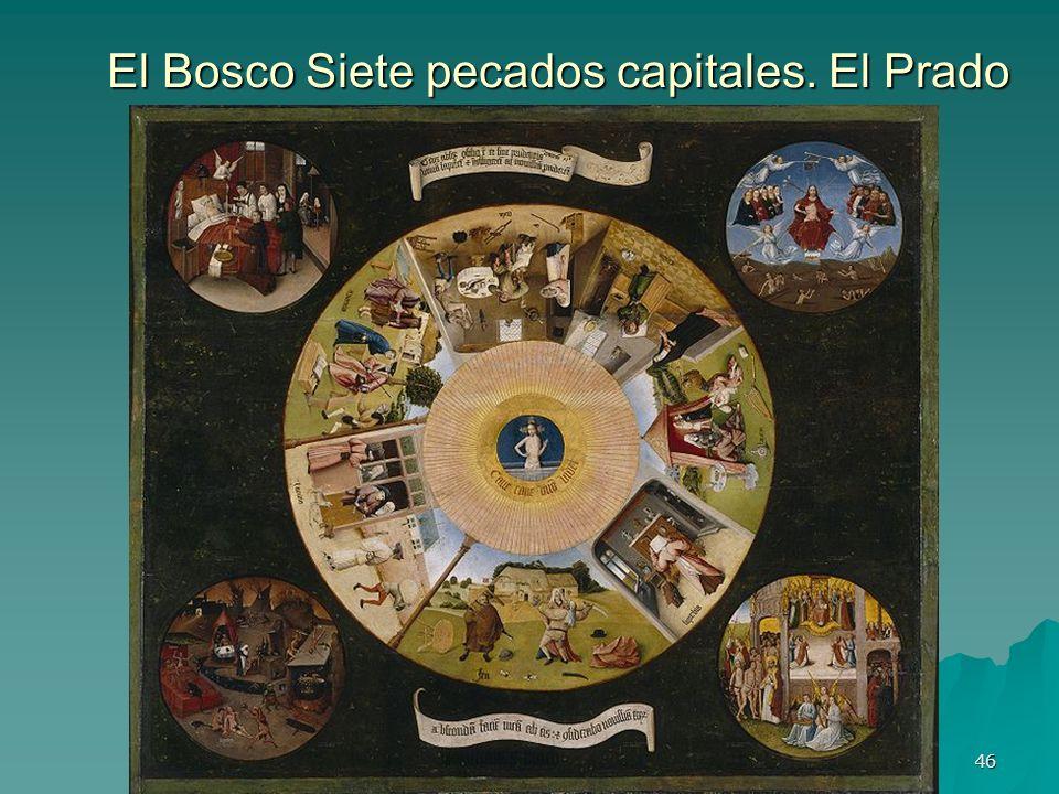 Pintura gótica 46 El Bosco Siete pecados capitales. El Prado