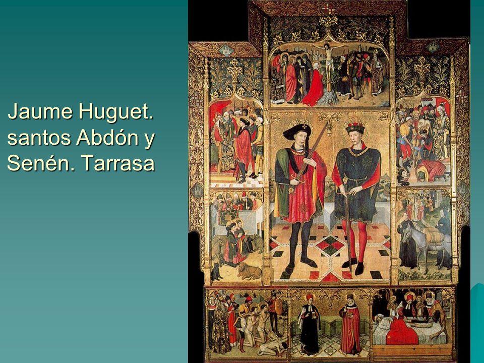 Pintura gótica 54 Jaume Huguet. santos Abdón y Senén. Tarrasa