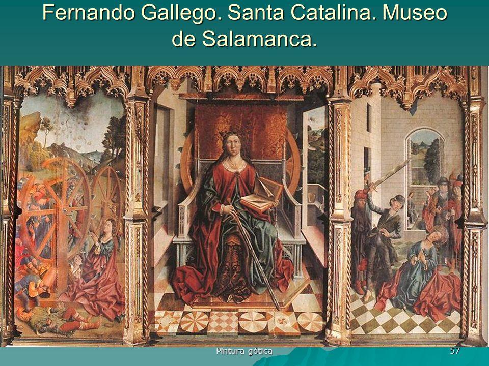 Pintura gótica 57 Fernando Gallego. Santa Catalina. Museo de Salamanca.