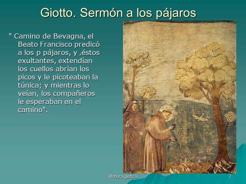 Pintura gótica 7 Giotto. Sermón a los pájaros