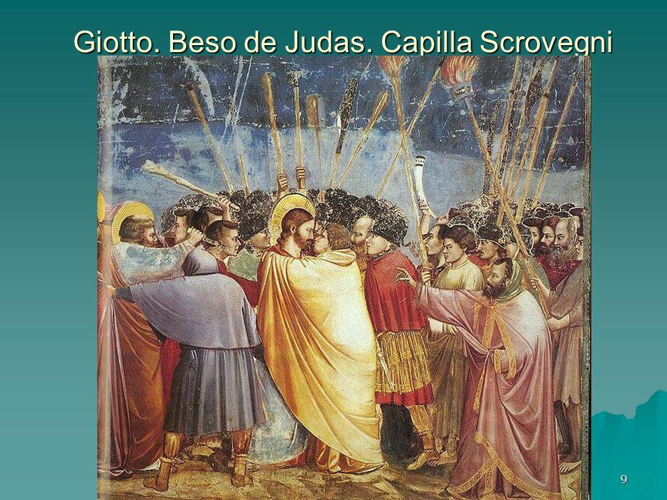 Pintura gótica 9 Giotto. Beso de Judas. Capilla Scrovegni