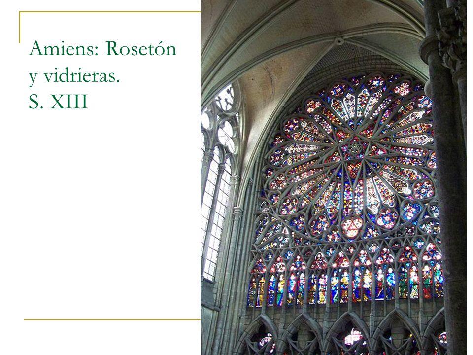 Gótico 11 Amiens: Rosetón y vidrieras. S. XIII