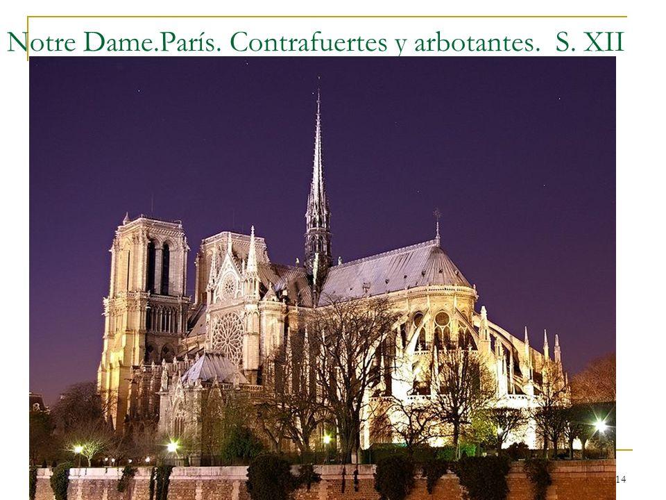 Gótico 14 Notre Dame.París. Contrafuertes y arbotantes. S. XII