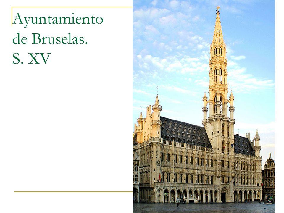 Gótico 46 Ayuntamiento de Bruselas. S. XV