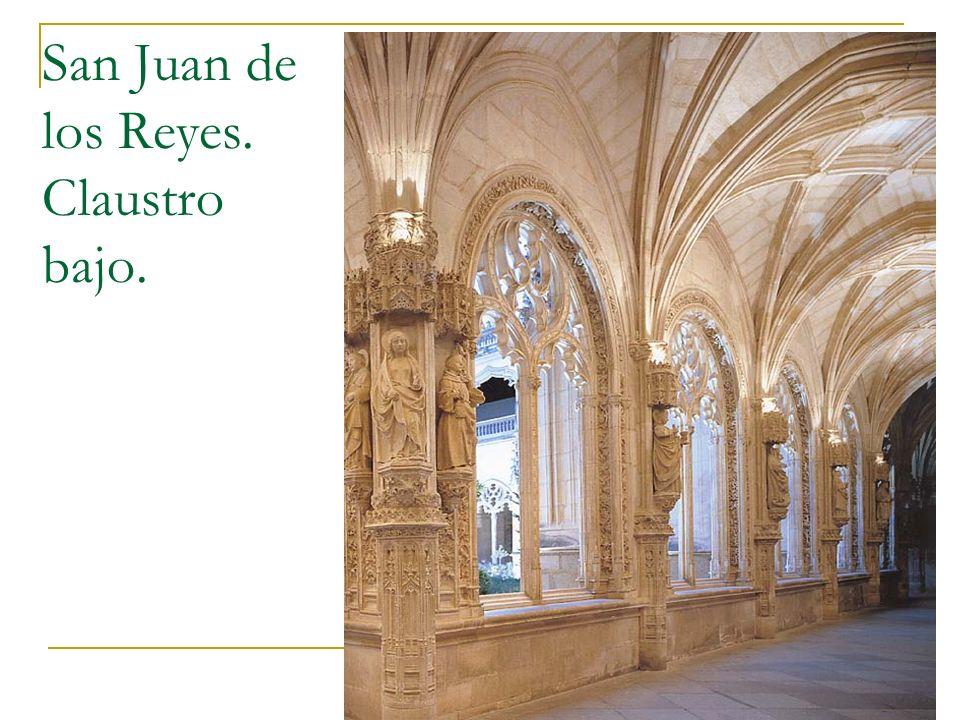 Gótico 73 San Juan de los Reyes. Claustro bajo.