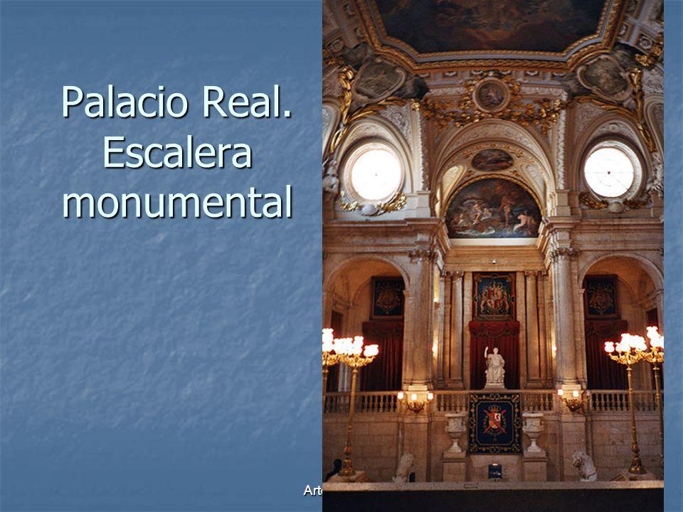 Arte Barroco74 Palacio Real. Escalera monumental