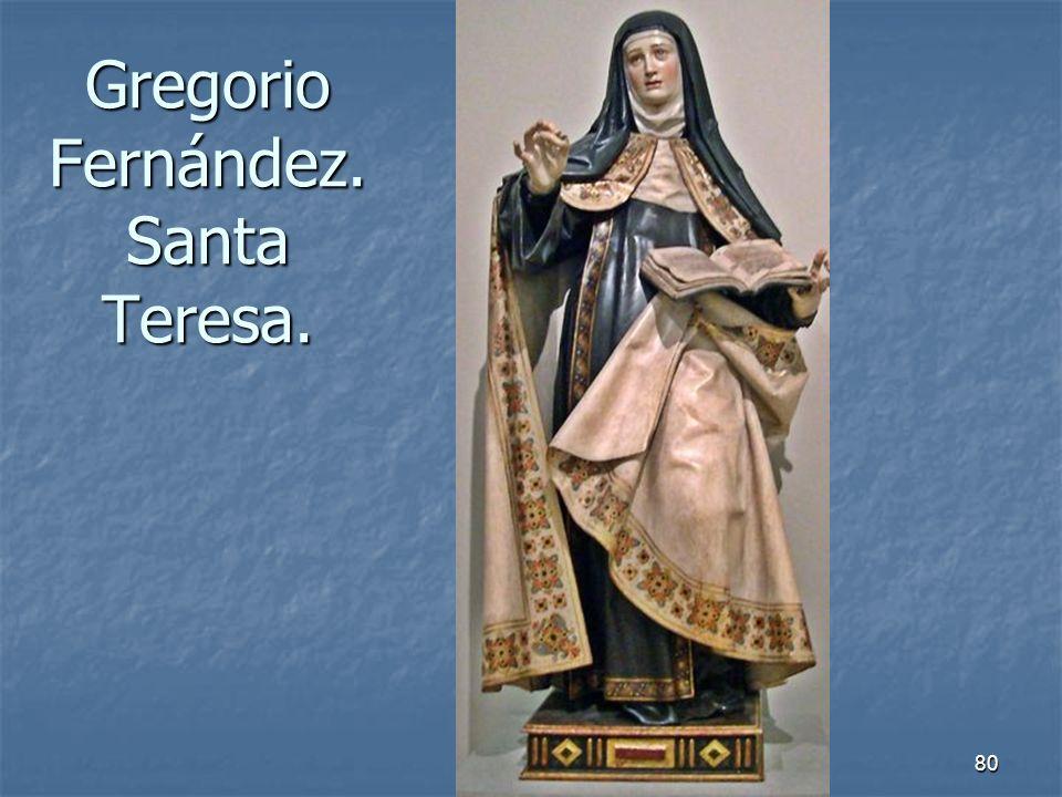 Arte Barroco80 Gregorio Fernández. Santa Teresa.