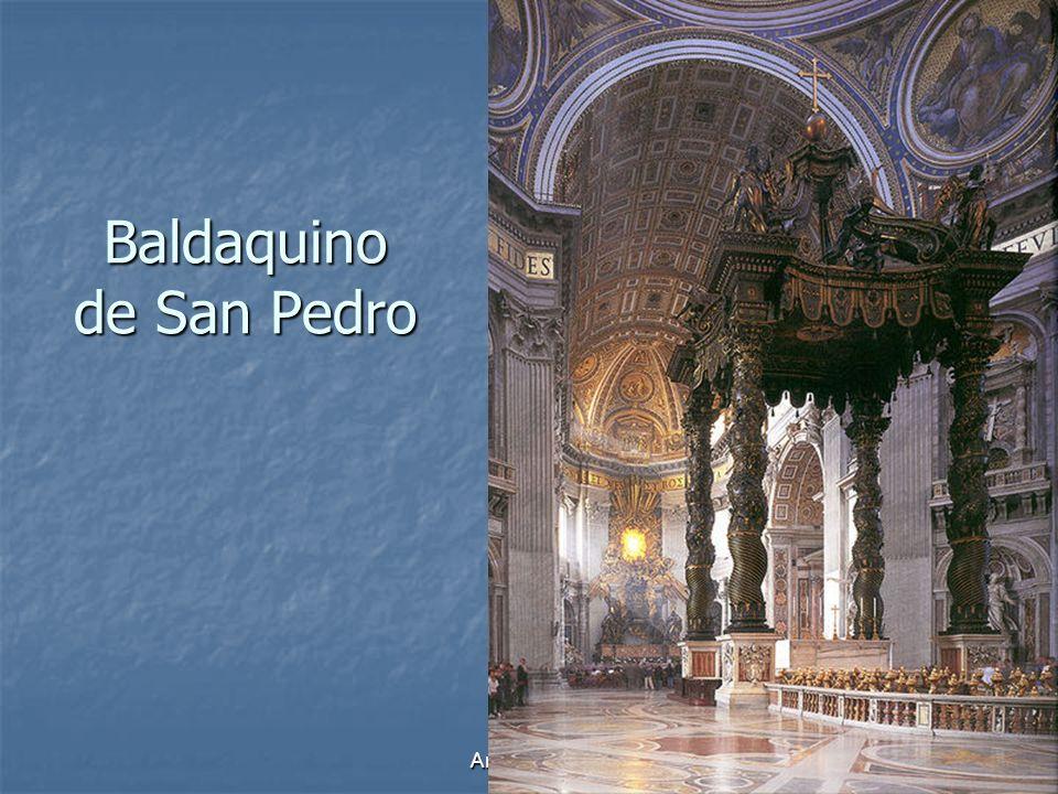 Arte Barroco9 Baldaquino de San Pedro