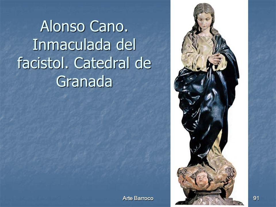 Arte Barroco91 Alonso Cano. Inmaculada del facistol. Catedral de Granada