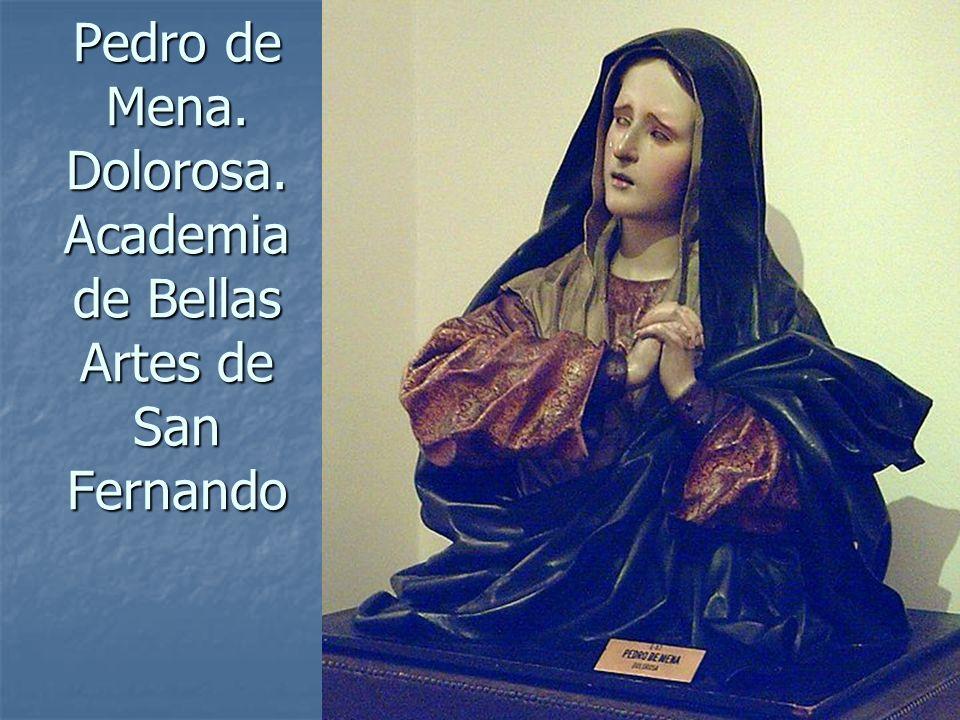 Arte Barroco96 Pedro de Mena. Dolorosa. Academia de Bellas Artes de San Fernando