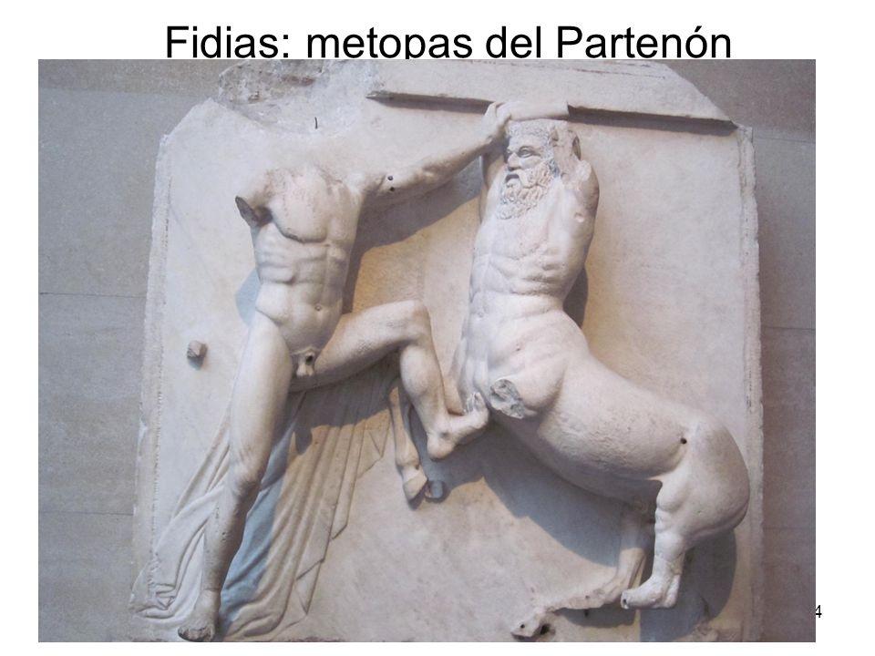 15/02/2014Pilar Morollón IES San Isidro104 Fidias: metopas del Partenón