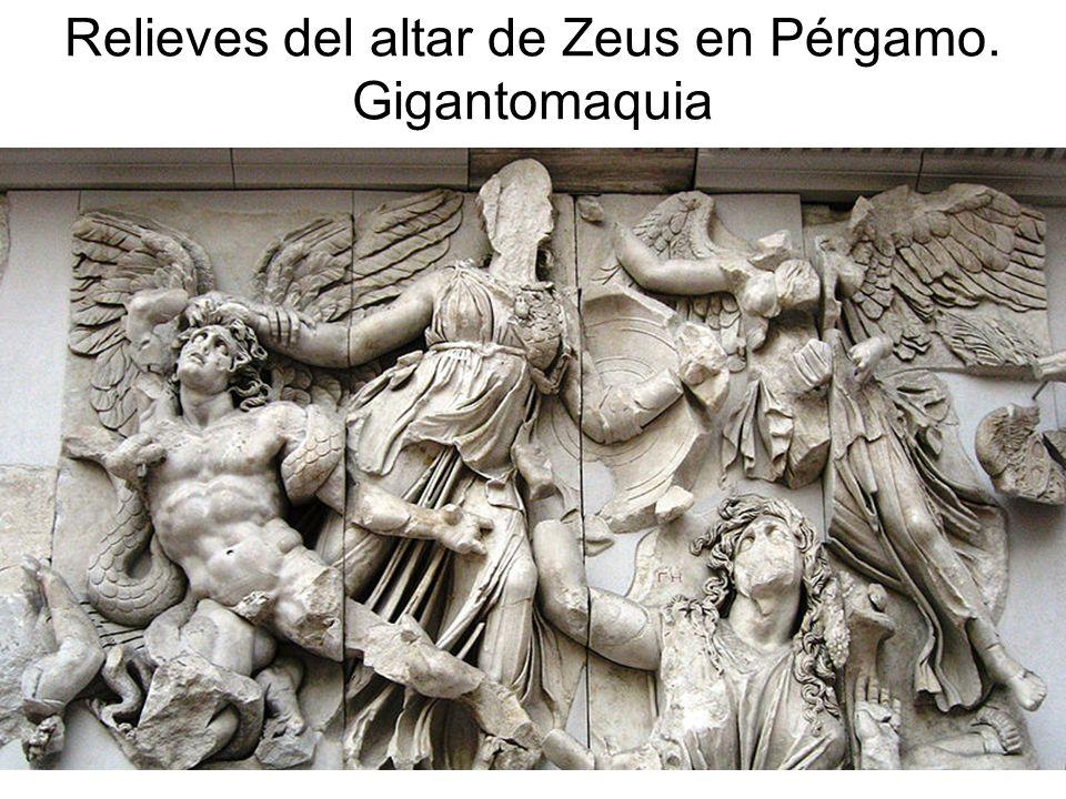 15/02/2014Pilar Morollón IES San Isidro120 Relieves del altar de Zeus en Pérgamo. Gigantomaquia