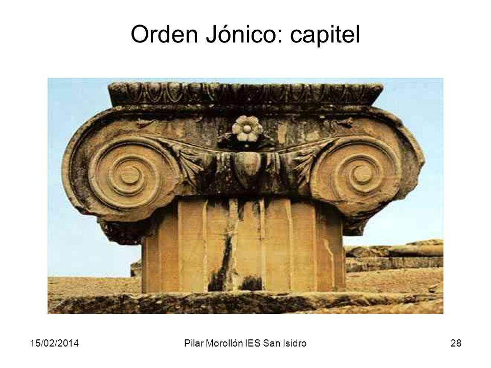 15/02/2014Pilar Morollón IES San Isidro28 Orden Jónico: capitel