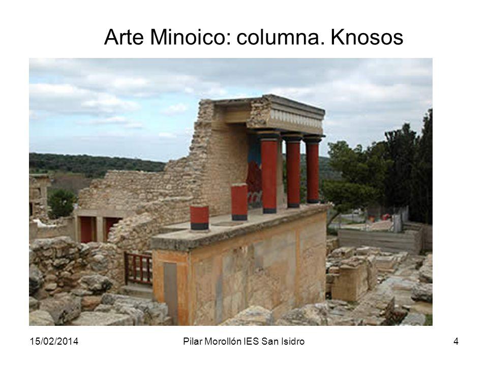 15/02/2014Pilar Morollón IES San Isidro4 Arte Minoico: columna. Knosos