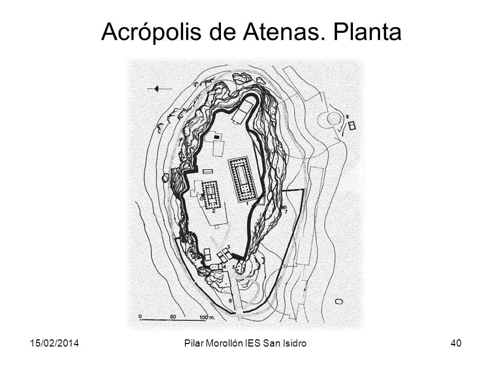 15/02/2014Pilar Morollón IES San Isidro40 Acrópolis de Atenas. Planta