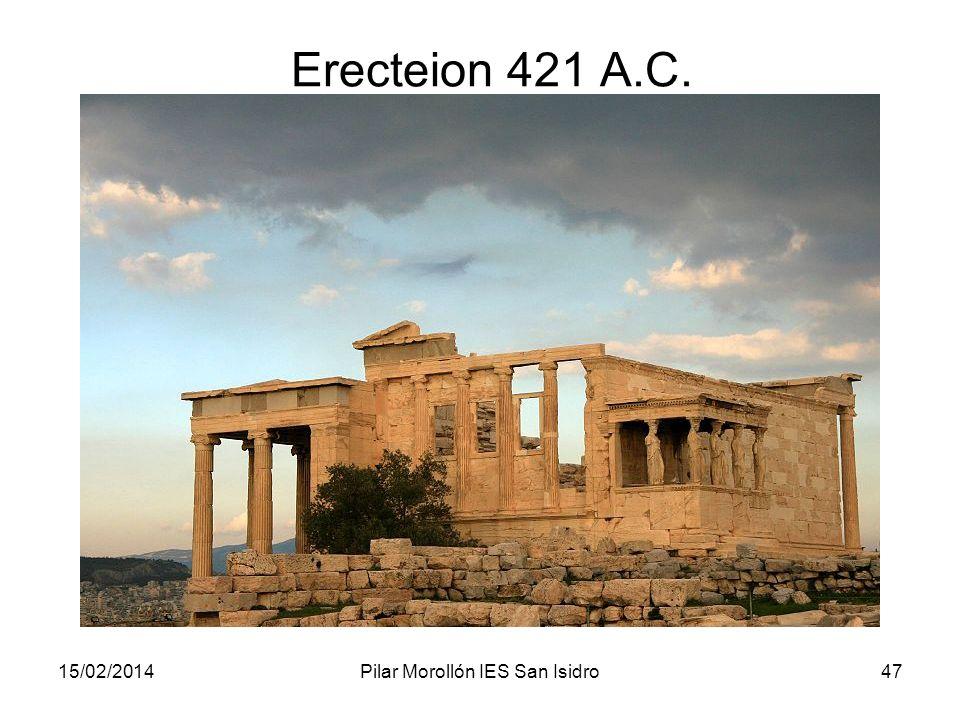 15/02/2014Pilar Morollón IES San Isidro47 Erecteion 421 A.C.