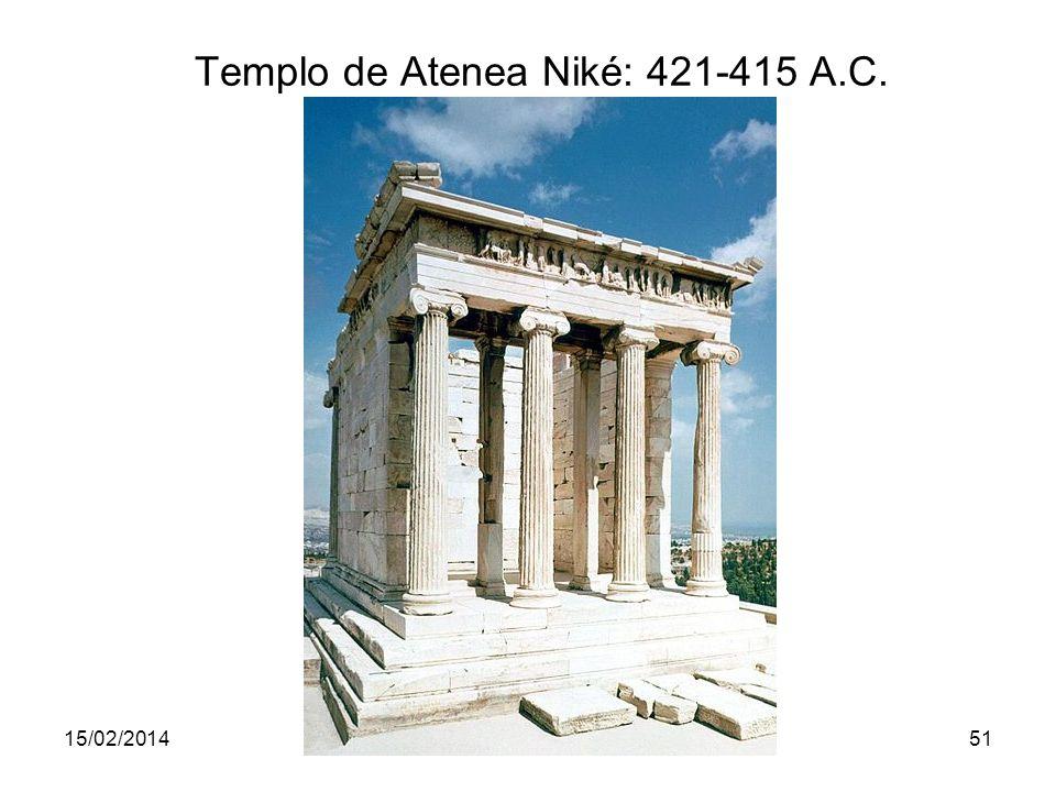 15/02/2014Pilar Morollón IES San Isidro51 Templo de Atenea Niké: 421-415 A.C.