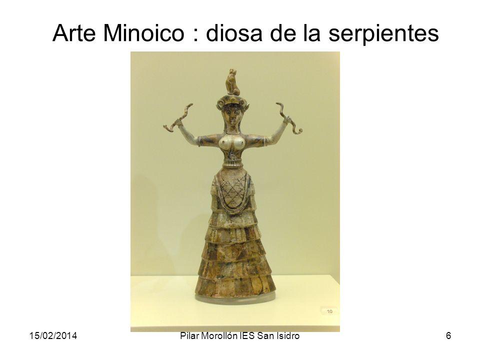 15/02/2014Pilar Morollón IES San Isidro6 Arte Minoico : diosa de la serpientes