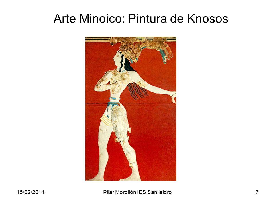 15/02/2014Pilar Morollón IES San Isidro7 Arte Minoico: Pintura de Knosos